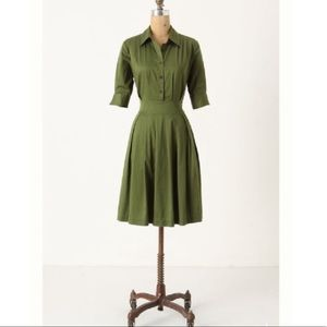 Anthro | Lili's closet ihrin shirt dress green